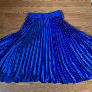 Royal blue Anthropologie midi skirt